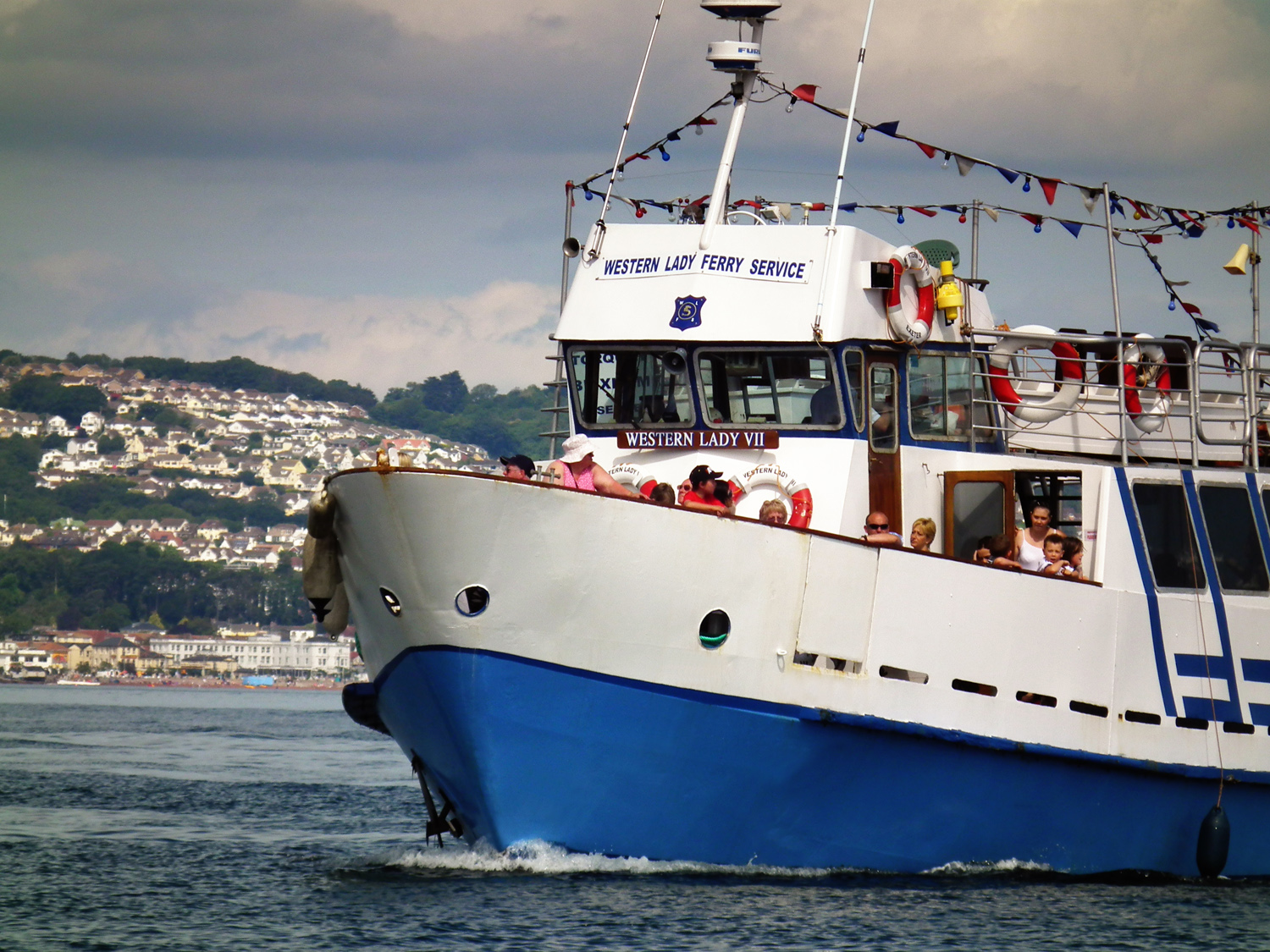 Boat services link the English Riviera towns of Torquay, Paignton and Brixham