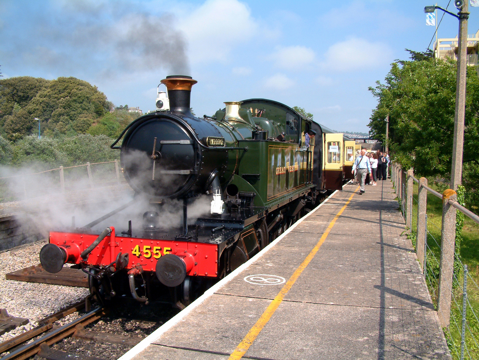 The Dartmouth Steam Railway linking The English Riviera with Dartmouth in south Devon